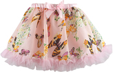 Pink Butterfly Ruffle-Hem Tutu - Toddler & Girls