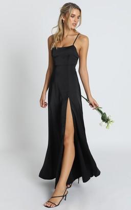 Showpo Will It Be Us Dress in black - 6 (XS) Bridesmaid