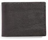John Varvatos Men's Leather Bifold Wallet - Black