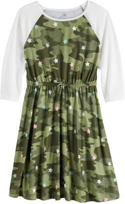 So Girls 6-16 & Plus Size SO Raglan Varsity Dress