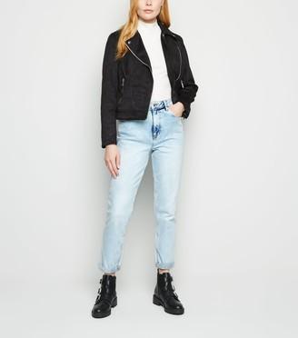 New Look Bright Bleach Wash High Waist Tori Mom Jeans