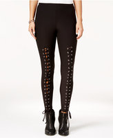 Ultra Flirt Juniors' Lace-Up Leggings