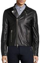 Diesel Black Gold Long Sleeve Leather Moto Jacket
