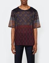 Pierre Louis Mascia Stitch Shirt in Red Multi