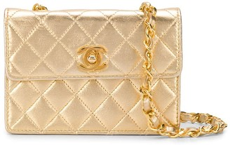 Chanel Pre Owned 1990s CC logos quilted crossbody bag