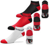 For Bare Feet Chicago Blackhawks 3pack Money No Show Socks