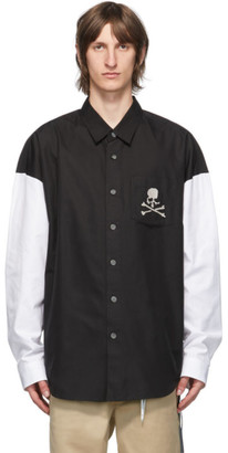 Mastermind Japan Black and White Colorblock Shirt