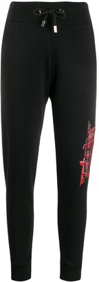 Philipp Plein High Waisted Track Trousers