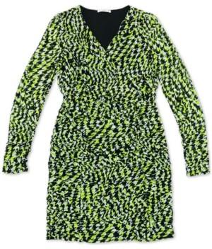 Bar III Ruched Vibrant Print Dress, Created for Macy's