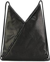 MM6 MAISON MARGIELA geometric drawstring backpack - women - Viscose/Polyurethane/Polyester - One Size
