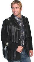 Scully Men's Handlaced Bead Trim Coat 758 Long
