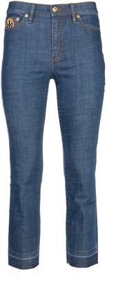 Tory Burch Straight Leg Mum Jeans