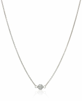 Dogeared Maid Of Honor Flower Card Pave Sparkle Chain Necklace