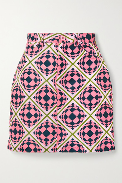 Thumbnail for your product : MAISIE WILEN Primetime Printed Shell Mini Skirt - Pink