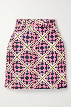 MAISIE WILEN Primetime Printed Shell Mini Skirt