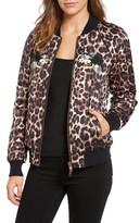 Pam & Gela Women's Embellished Bomber Jacket