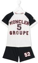 Moncler logo print short set