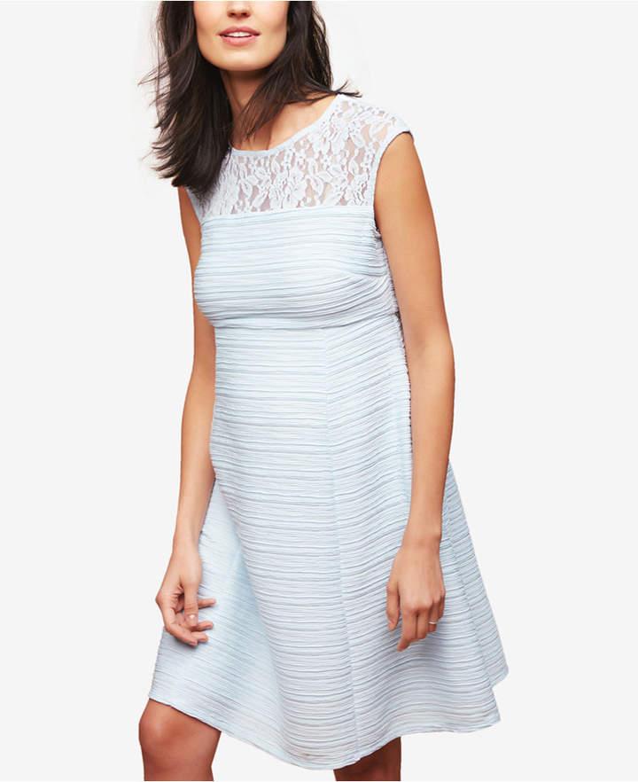 Maternity Lace-Trim A-Line Dress