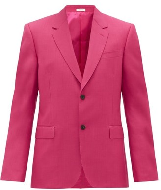 Alexander McQueen Single-breasted Wool-blend Crepe Suit Jacket - Pink