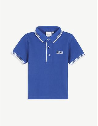 BOSS Logo cotton polo shirt 3-36 months
