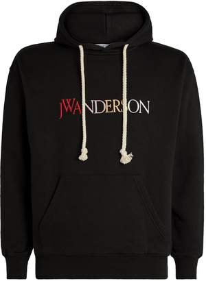 J.W.Anderson Embroidered Rainbow Logo Hoodie