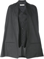Lucio Vanotti - cape jacket - women - Spandex/Elastane/Cupro/Virgin Wool - 1