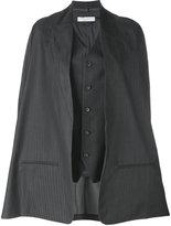 Lucio Vanotti - cape jacket - women - Virgin Wool/Cupro/Spandex/Elastane - 1