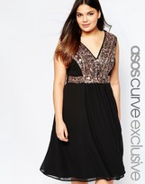 Asos Midi Dress with Mirror Embellishment