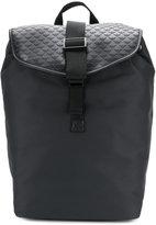 Emporio Armani embossed buckle backpack