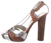 Dolce & Gabbana Crossover Platform Sandals
