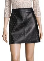 SET Studded Leather Mini Skirt