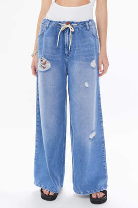 One Teaspoon Bad Boys High-Waisted Wide Leg Jean Hollywood
