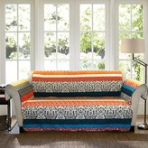Nobrand No Brand Boho Stripe Furniture Protector Turq/ Tangerine Loveseat