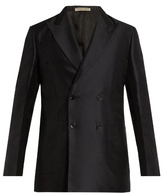 Bottega Veneta Double-breasted cotton and silk-blend blazer
