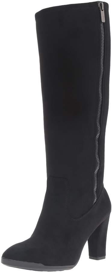 Anne Klein Women's Elek Suede Knee-High Synthetic Boot - 7.5M
