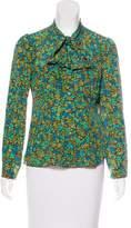 Anna Sui Silk Floral Print Top
