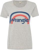 Wrangler Round neck logo tee in mid grey mele