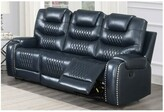 """Thumbnail for your product : Winston Porter Abimbola 90"""" Round Arm Reclining Sofa"""