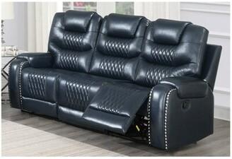 "Winston Porter Abimbola 90"" Round Arm Reclining Sofa"