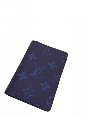 Louis Vuitton Pocket Organizer Blue Cloth Small bags, wallets & cases