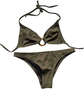 Solid & Striped Green Swimwear for Women