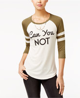 Rebellious One Juniors' Can You Not Graphic T-Shirt