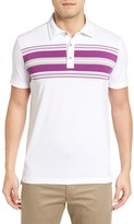 Bobby Jones Men's Marvel Tech Chest Stripe Golf Polo