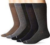 Nautica Men's Solid 5 Pack Dress Sock