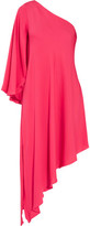 Milly Tori One-Shoulder Stretch-Silk Dress