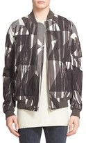 Rick Owens Men's Camo Print Bomber Jacket