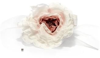 Stephen Jones Proposal Floral Tulle Fascinator - White Multi