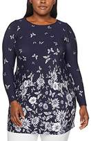 Evans Women's Border Print Tunic Blouse