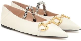 Gucci Horsebit leather ballet flats