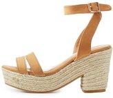 Charlotte Russe Bamboo Two-Piece Platform Espadrille Sandals